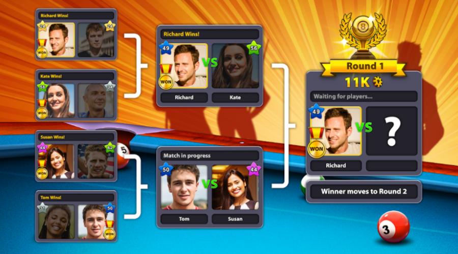 Download 8 Ball Pool Mod Apk v5.0.0 Anti Ban Unlimited Coins